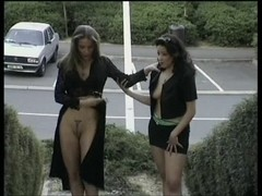 French nudist lesbians parade naked in public