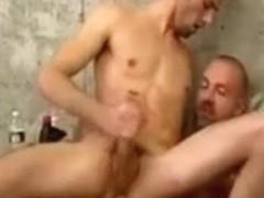 Passionate threesome cock riding