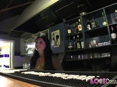 Love Creampie: Barmaid gets creamied over the table