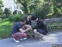 Affy beauty is drilled by her BF's brother