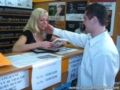 Quick sex in a DVD store