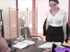Hot horny ###ary Valentina Nappi gets fucked hard at the office