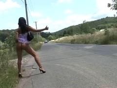 Czech slut sex in car