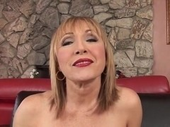 Mary takes dick in her mature pussy