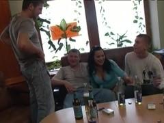 3 boys fuck oriental Titted