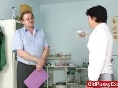 housewife Eva visits gyno doc fuck hole inspection