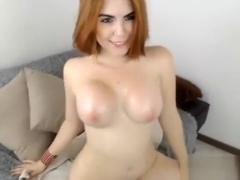 Busty Redhead With Huge Boobs