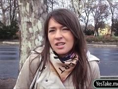 Amateur Eurobabe Anastasia stuffed in public for money