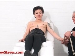 Bizarre asian medical bdsm and oriental Mei Maras extreme doctor fetish of play piercing and facia.