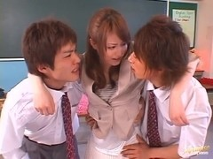 MMF action with hot teacher Akiho Yoshizawa