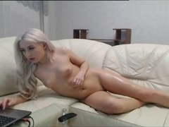 Deep Anal Fisting and Prolapse Gaping for Dumb Blonde Bimbo on Cam , Webcam