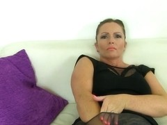 British milf Cherri dildos her juicy fanny
