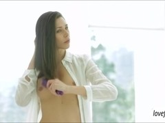 Slender babe Anastasia Morna morning sex