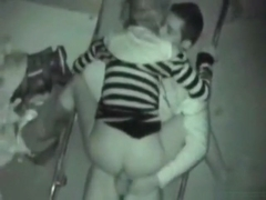Voyeur tapes a party couple having sex at the beach at night