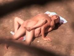 Homemade couple porn vid where I fuck on the beach