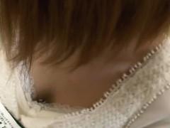 Gorgeous downblouse japanese brunette video