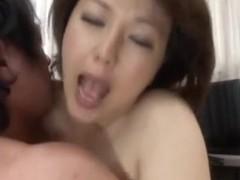 Izumi Takashima hot mature Asian babe gets it doggy style