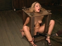 Hot Blonde is devastated by sadistic torment and screaming orgasms!!