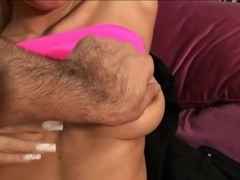 Stunning babe Angelina Love plays with her amazing body