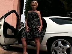 Best pornstar Zuzana Z in horny outdoor, solo porn clip