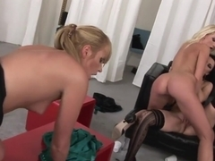 Exotic pornstars Anna King, Lucy Cattiva and Kitty Sixx in fabulous mature, group sex sex scene