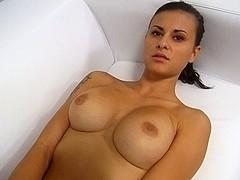 Breathtaking Large Melons Brunette Hair PornJob Interview