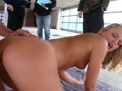 Amazing blonde pornstar Vanda Lust fucks in front of the camera