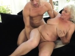 Blonde granny named Norma fucking with her neighbour at the weekends