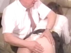 British Schoolgirl Spanked and BJ