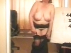 Shy mature striptease 2