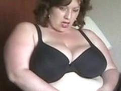 big beautiful woman in nylons masturbating in hotel room