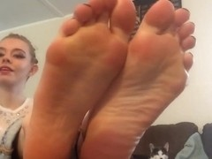 Teasing you with her feet