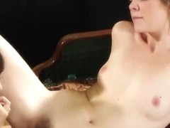 Delightsome chicks stimulating every other