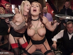 Simone Sonay & Bill Bailey & Karmen Karma in Busty Slave Girl Anally Destroyed At Kinky Brunch - T.