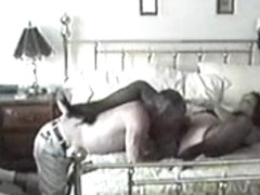 Plump guy licked her clit until she reached the orgasm