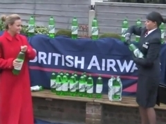 British Airways girls wetlook