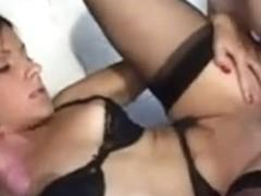 Beautiful Italian vixen fucking two men
