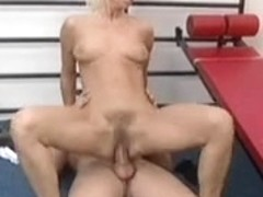 Aged granny getting fucked in her pussy by a young dick