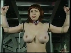 Large boobs sweetheart acquires enjoys a S&M session with her slavemaster