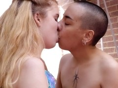 Aroused lesbians, Anna Thorn and Katie Gee know how to make each other moan from pleasure