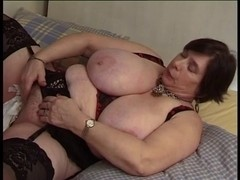 french big beautiful woman older with toy
