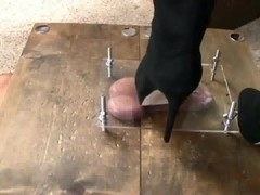 CBT BDSM movie by a mistress in hot black heels