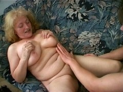 Plump Granny Can't Live Without Cum Leaking from her Chin