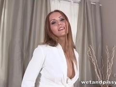 Horny babe Sabrina Moor masturbates