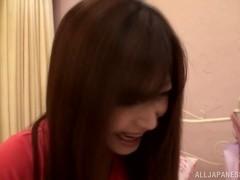 Naughty Asian teen Satou Haruki enjoys toy insertion