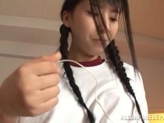 Yuuki likes deep masturbating her twat with toys