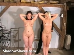 Two ###s bizarre pussy punishments and whipping to tears of amateur bdsm masochists in shaving hum.