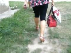 sexy heels candid slovakia