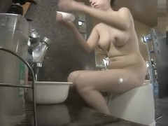 Asian milf with stunning body on the shower spy cam thf02 00