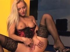 Incredible pornstar Veronika Simon in exotic masturbation, blonde xxx video